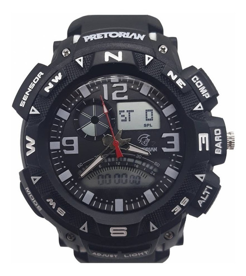 Relógio Pretorian Force Black/ White ( Wprt-06-1)