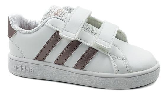 adidas Grand Court Velcro Blanco-bebé