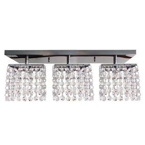 Lustres Teto Plafon De Cristal 3 Cubos Lâmpadas Inclusa