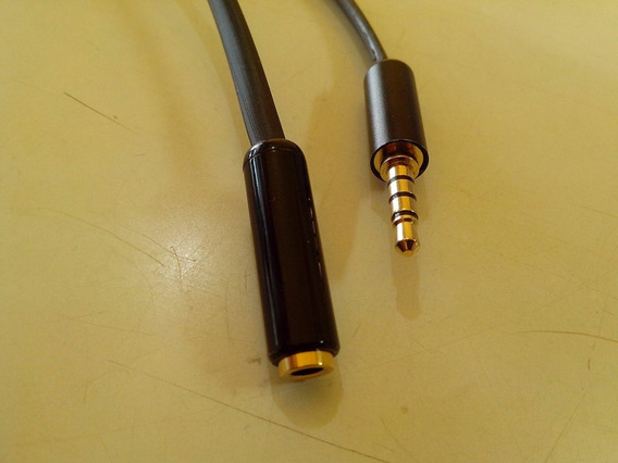 Extensão 20 Metros P3 P2 3,5mm 4 Vias Polos P/headset Celula