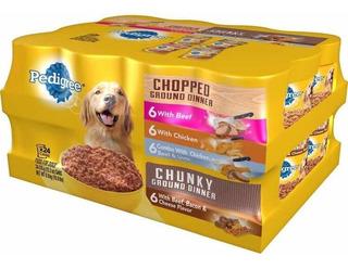 Pedigree Chopped Ground Dinner Wet Dog Food 24 Pack Perro