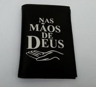 Carteira Masculina Porta Documentos Carro Moto Mãos De Deus