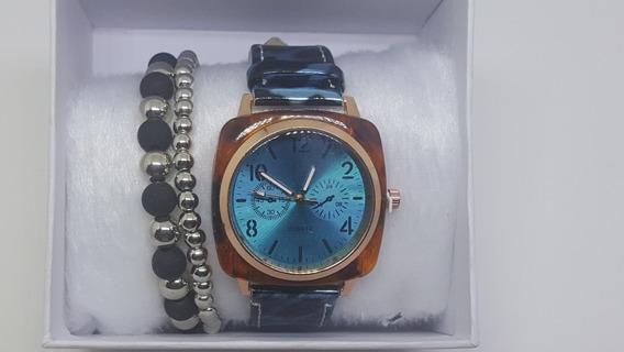Kit 04 Relógios Femininos Pulseiras De Brinde