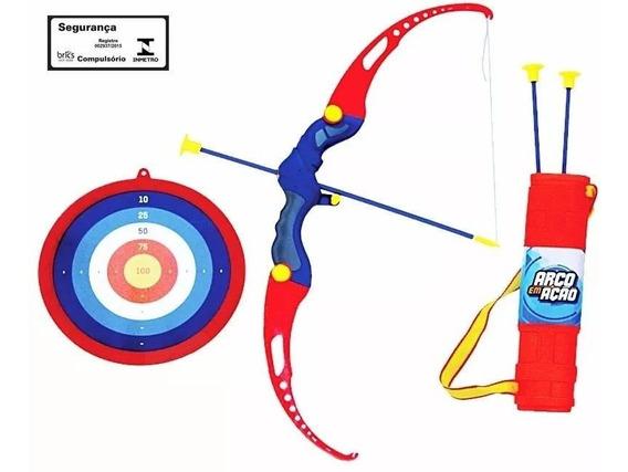 Kit Arco E Flecha Infan +3 Flechas+alvo+bolsa 490600 Belfix