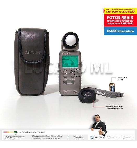 Fotômetro Flash Master Sekonic L358 + Lumigrid + Bateria Ap