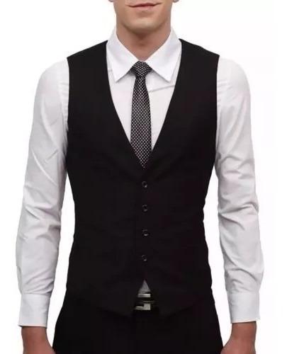 Kit Colete Masculino Slim + Camisa Social + Calça Semislim