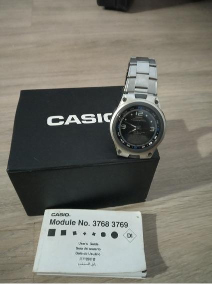 Relógio Casio Fishing Gear Aw82 C/ Caixa E Manual Usado.