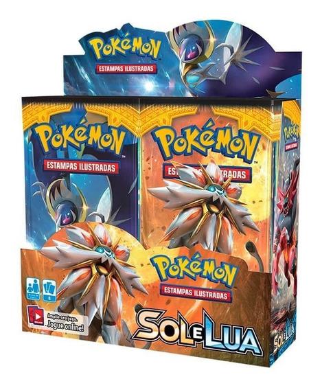 Pokémon Tcg Booster Box (36 Pacotes) Sm1 Sol E Lua Original