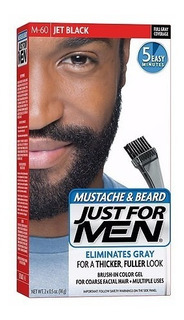 Tinta Para Barba E Bigode Just For Men Cor M-60 Jet Black