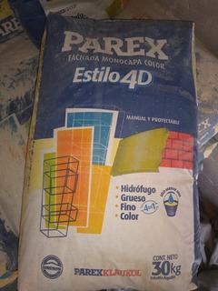 Texturado Parex 4d . Color Beige Piedra Paris
