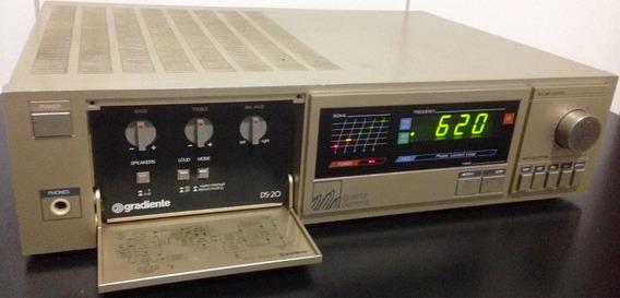 Receiver Gradiente Ds-20 Lindo 100%funcional Vintage Anos 80
