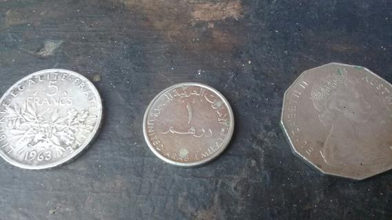 Monedas De 5 Francs Y Elizabeth 2 United Arab Emirates