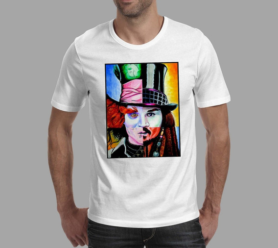 Camiseta Johnny Depp 2 - Branco