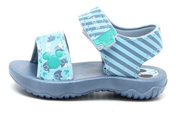 Sandalia Mickey Fun Baby Azul Con Envio Gratis Fty Calzados