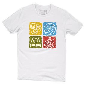 Camiseta Avatar Lenda De Aang Korra Escola Elementos Camisa