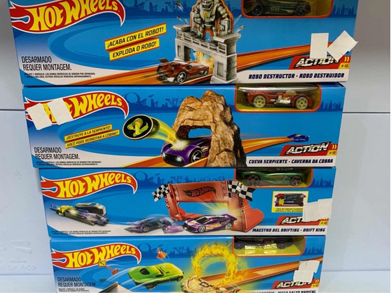 Hot Wheels Combo Com 4 Pistas Ref Dnn77