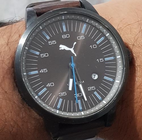 Relógio Puma (original Com Caixa) Pulseira De Couro