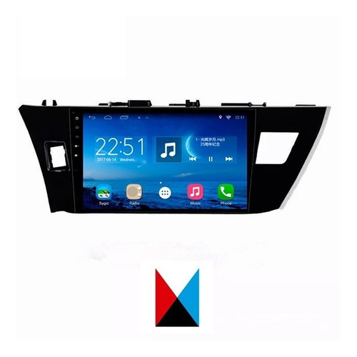 Central Multimedia Toyota Corolla 2016/18 Android 10,2' Inch