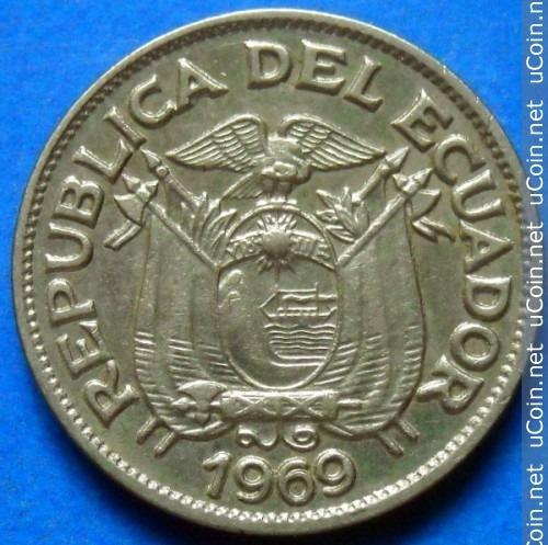 Ecuador Moneda De 5 Centavos Año 1969
