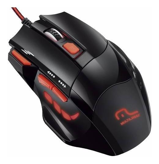 Mouse Gamer Vermelho Fire Button 2400dpi Multilaser Mo236