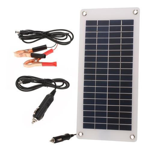 Imagen 1 de 7 de Mantenedor Solar Coche Cargador Batería Coche 8.5w / 12v Con