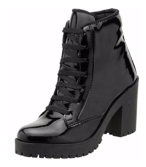 Bota Cano Curto Feminina Dududias Verniz Ankle Boot - 030