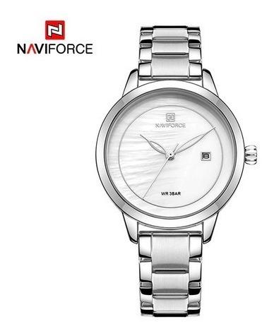 Relógio Feminino Naviforce 5008 Aço Inoxidável Frete Grátis