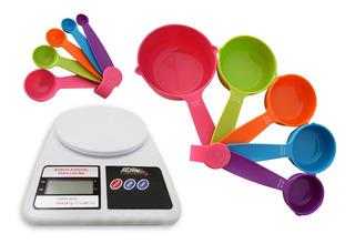 Bascula Alimentos Sf-400 1g*10 + Tazas + Cucharas Medidoras