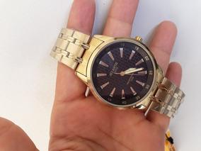 Relógio Masculino Atlantis Dourado Resistente A Água Leilão