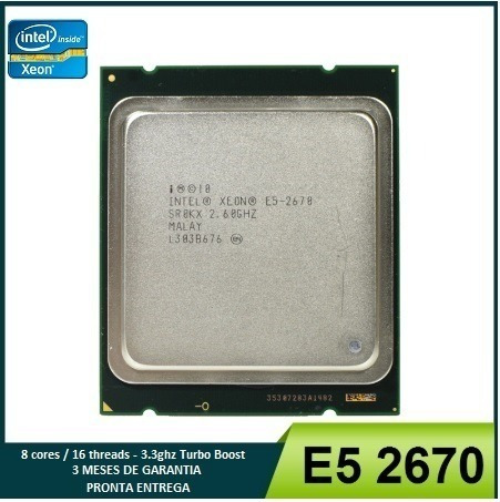 Xeon E5 2670 8cores 16threads Lga 2011