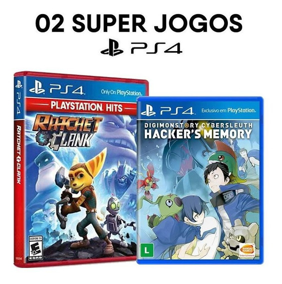 Ratchet & Clank + Digimon Story Cyber Sleuth - Ps4 - Novos