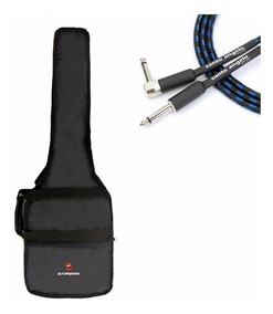 Capa Bag Case Guitarra Strato Les Paul+cabo Santo Angelo 5m