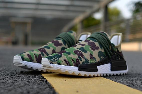 Zapatillas Pharrell X adidas Nmd Hu Trail Militar Unisex