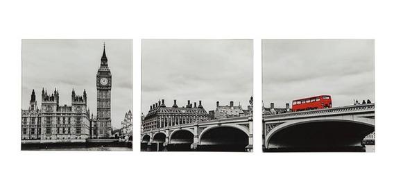 Conjunto 3 Quadros London