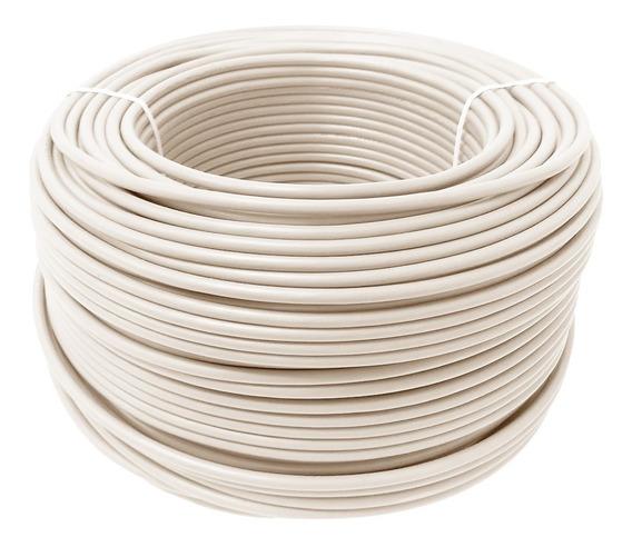 Cable Calibre 12 Thw Alucobre En Caja Con 100m Color Blanco