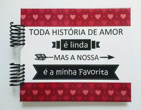 Álbum Scrapbook Presente Namorados Nossa História #p
