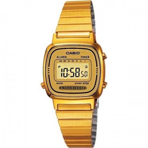Relógio Casio Feminino La670 Dourado /dourado Tamanho Mini
