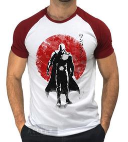 Camisetas Raglan One Punch Man Saitama Red Sun Anime Manga