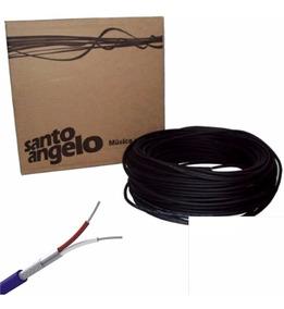 Promoçao Rolo De Cabo Microfone Santo Angelo X30 100 Metros