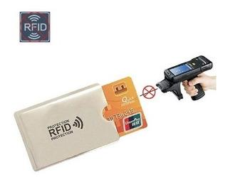 5 Protector Rfid Tarjeta Crédito Débito Seguridad Antifraude