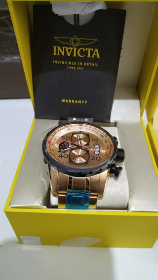 Relógio Invicta Dourado/preto Modelo 17205