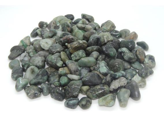 Esmeralda Pedra Rolada 100g Semi Preciosas