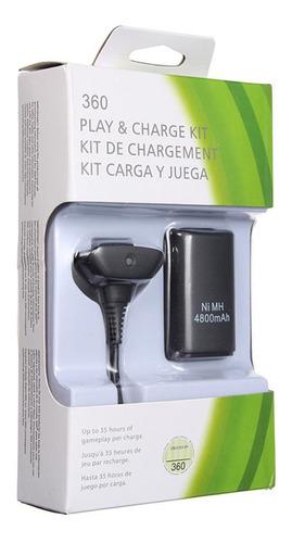 Imagen 1 de 2 de Kit Carga Y Juega Xbox 360 4800 Mah Cable Y Baterías