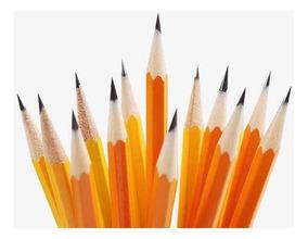 Lápis Escrever 17 Unidades Preto