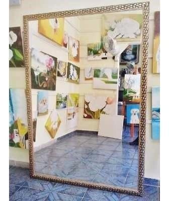 Espelho Grande 200x100cm C/moldura Entrego Só Na Gd S Paulo