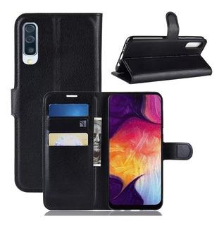 Capa Case Carteira Flip Samsung A50 Preto