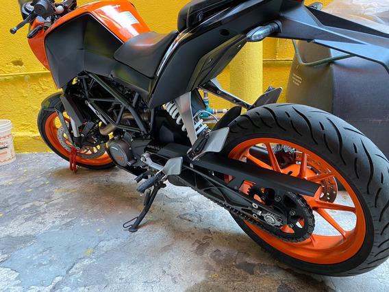 Moto Ktm Duke 200 Naranja /negro 2017
