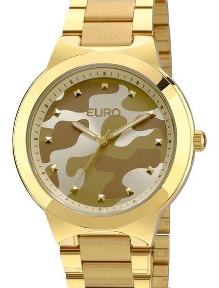 Relógio Feminino Euro Dourado Militar - Eu2035ybg/4m