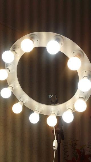 Ring Light 12 Lampadas 9w Bivolt Potente Reclinavel