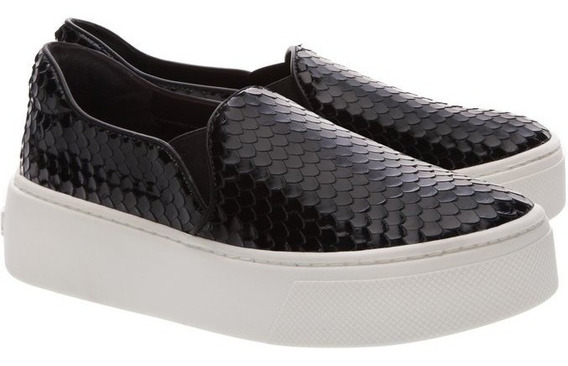 Tenis Schutz Slip On S-high Snake Black